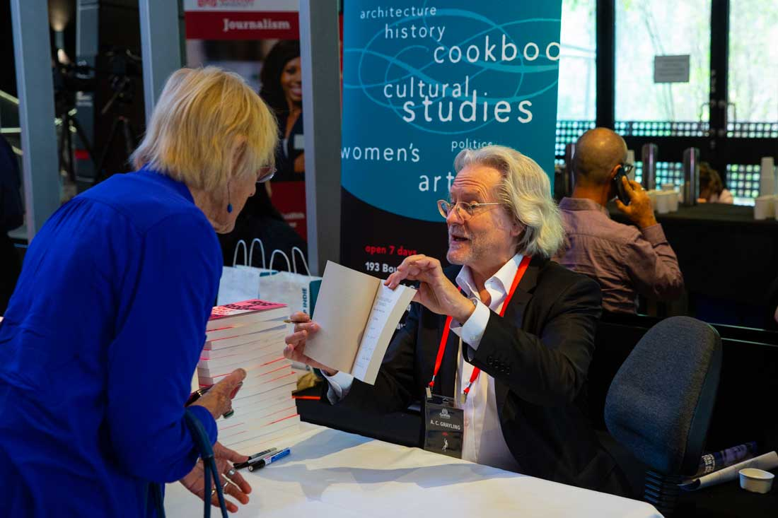 A. C. Grayling book signing